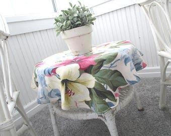 Vintage Barkcloth * Shabby Cottage * Farmhouse * Fabric