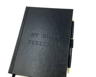 My Dumb Feelings Black Diary