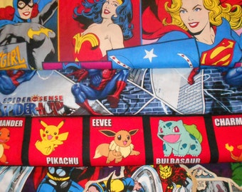 SUPER HEROS #4  Fabrics, Sold INDIVIDUALLY not as a group, by the Half Yard