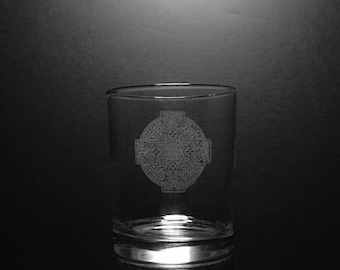 Celtic Cross 13 Ounce Old Fashion Rocks Glass
