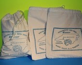 Vintage Heavy Weight Cotton Small Drawstring Utility Bag,