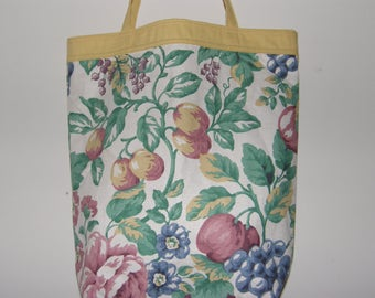 Tote Bag with Fruit and Flowers