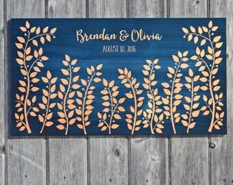 Wedding Signature Board / Wedding Guest Book Alternative / Custom Wedding Signing Board / Personalized Wedding Memento / Large Garden