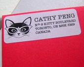Clever Kitty Address Labels