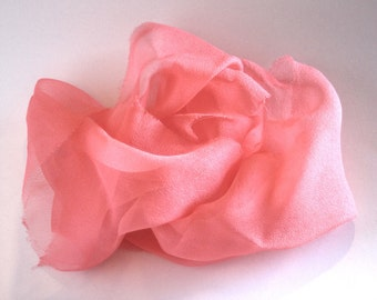 Tangerine Silk  Chiffon Gauze  - Pretty Pale Orange - Photo Prop - Newborn Wrap - Great Gift -  Low Shipping