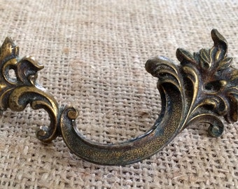 Restoration Hardware|French Provincial Furniture Pull | Replacement Hardware | French Hardware | Upcycled Pulls |Vintage Antique Hardware