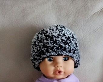 386 - Black & White Baby's Hat