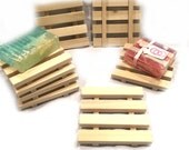 2 XL natural wood soap dishes - 4x4 soap dishes - Handmade in USA
