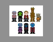 Guardians of the Galaxy Pixel People Character Cross Stitch PDF PATTERN ONLY