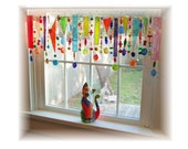 Spring Has Sprung NUMBER TWO Stained Glass Window Treatment Kitchen Valance Curtain