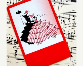 ONSALE Antique Playing Silhouette Cards for Images