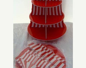 ON SALE Adorable Circus Display Cupcake Tier for Assemblage