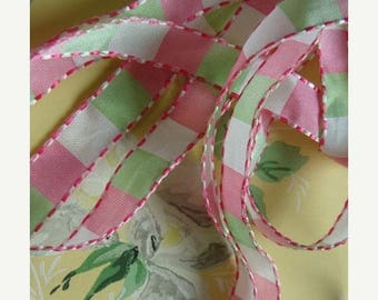 ON SALE Sweet Vintage Feminine Pink and Mint Green Girly Girl  Ribbon
