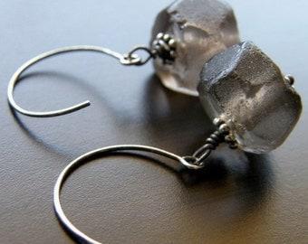 20% OFF Brown Recycled Glass Earrings, Eco Friendly Earrings - Night Sky