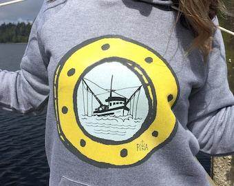 Porthole Fishing Unisex Pullover Hoodie