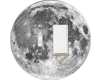 Moon Toggle and Decora Rocker Switch Plate Cover