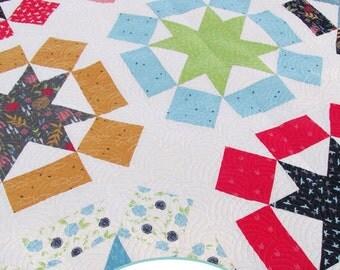 Starburst Fat Quarter Quilt Paper Pattern