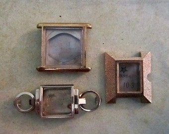 Vintage  Watch parts - watch Cases -  Steampunk - Scrapbooking  n27