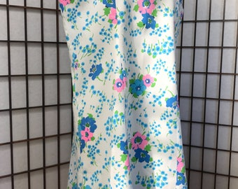 Vintage 60s Floral Shift Dress 20 1/2 L XL