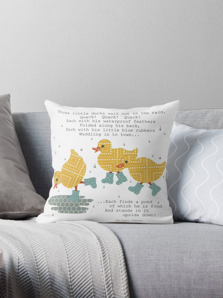 Throw Pillow Inserts 16 X 16 : Ducks Throw Pillow with Insert 16 x 16 Three