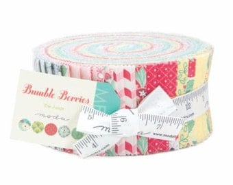 SUMMER SALE - Bumble Berries - Jelly Roll - The Jungs - Moda Fabric