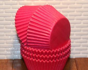 Bright Pink Cupcake Liners (Qty 45) Pink Cupcake Liners, Pink Baking Cups, Pink Muffin Cups, Cupcake Liners, Baking Cups, Muffin Cups