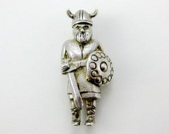 Vintage Sterling Silver Viking Man Charm