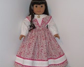 Pink and White Colonial Outfit, AG Doll Colonial, American Doll Historical, Doll Colonial Outfit, Fits 18 Inch American Girl Dolls