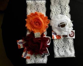 House divided alabama and Clemson Garter,inspired Football Garter,Bridal Garters,Sports Garter,Lace Garter