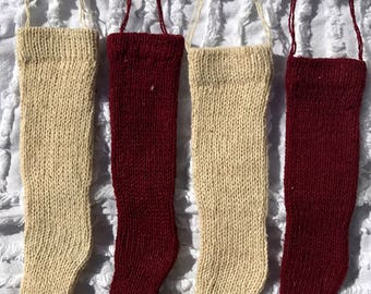 """Knitted stockings - set of 4 (6""""Lx1 1/2""""W)"""