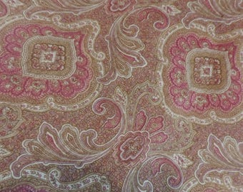 Antique French Cotton Fabric Six Yards Vintage Victorian