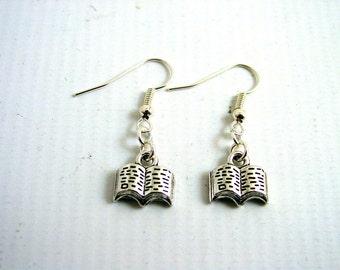 Book Earrings - Reading Earrings - Reader Earrings - Librarian Earrings