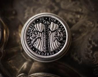 Satin Corset - Natural  Solid Perfume - Perfume with Lily, Vanilla, Tonka, Rose, Ylang Ylang, Sweet, Floral Scent - Victorian Solid Perfume