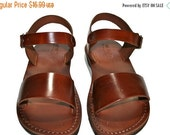 20% OFF CLEARANCE SALE - Brown Desert Leather Sandals for Men & Women - Euro # 42 - Handmade Unisex Sandals, Genuine Leather Sandals, Sale