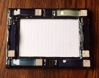 Blue and Black Mosaic Picture Frame (holds a 4 x 6 photograph)