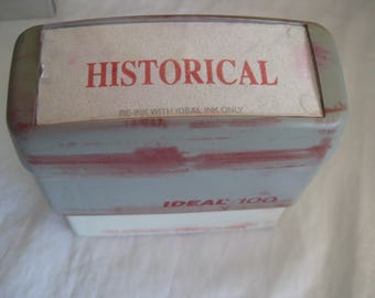 Vintage self inking stamp, HISTORICAL,