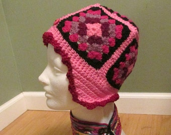 Pink Hat with Ear Flaps