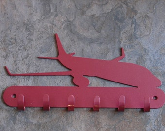 Jet Airplane KEY RACK Home Decor Hat Leash Hanging
