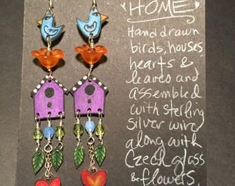 """Earrings """"Home Sweet Home"""""""