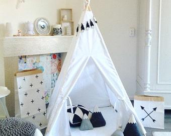 Play Teepee Tent | Reg/small size | Pure White | indoor play teepee tent | Toddler Tent | Plain tipi tent | Kids teepee tent | Unisex teepee