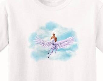 Tupac Riding a Pegasus T-Shirt