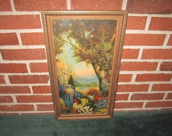 Reserved for Judy....Vintage 1920s Art Deco Original R. Atkinson Fox Print Titled GARDEN REALM