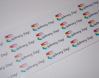 20 Library Day Stickers / Library Stickers / Great for use in your Erin Condren Life Planner