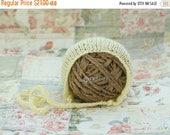 SHOP CLOSING SALE Reserved for Shelly - Yellow Mohair Knit Bonnet