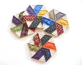 Quilted Fabric Coasters - Housewarming Hostess Gift Mug Mats Primitive Country Home Decor Rustic Home Decor Farmhouse Decor Drink Coasters