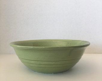 1950's Green Serving Bowl