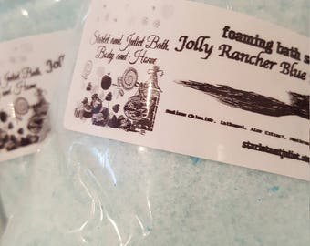 Foaming Bath Salts Approx 8oz You Pick Scent Photo: Jolly Rancher Blue Raspberry - Exactly like the hard candy we all love