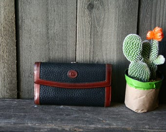 Leather Dooney and Bourke Wallet and Coin Purse Vintage From Nowvintage on Etsy