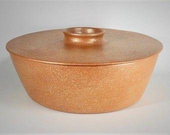 Micaceous Casserole, 3 qt., Ceramic Cookware, Clay Bakeware, Serving Dish