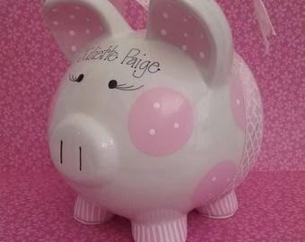 Personalized JUMBO Ceramic Piggy Bank